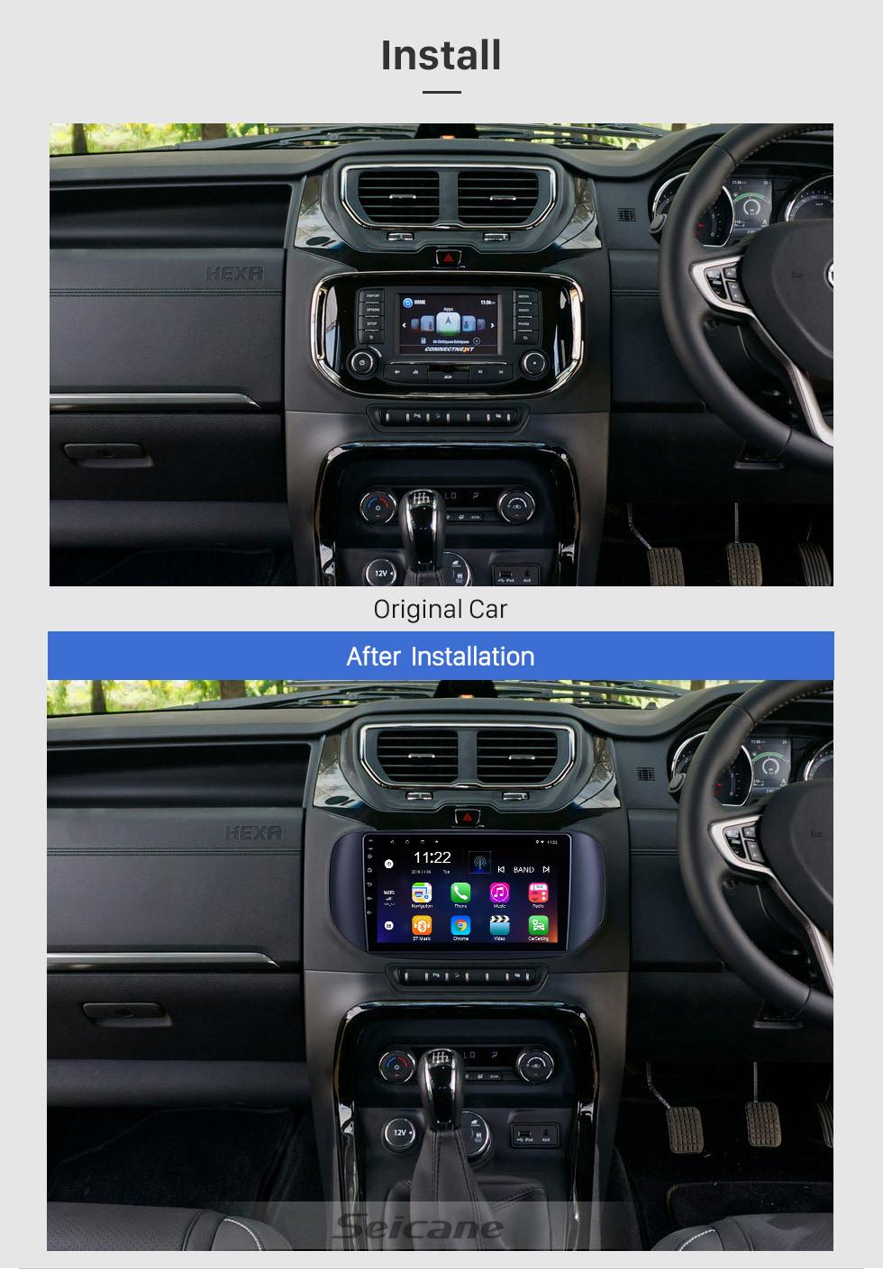 Seicane OEM Android 10.0 para 2018 Tata Hexa RHD Radio con Bluetooth 9 pulgadas HD Pantalla táctil Sistema de navegación GPS compatible con Carplay