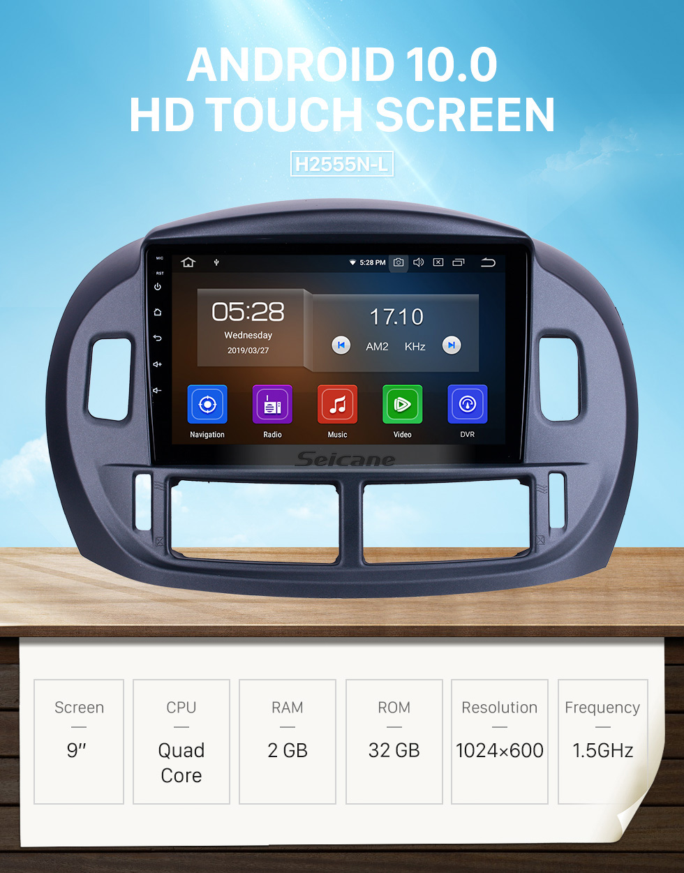 Seicane 9 inch For 2004 Toyota Previa Radio Android 10.0 GPS Navigation System with HD Touchscreen Bluetooth Carplay support DVR