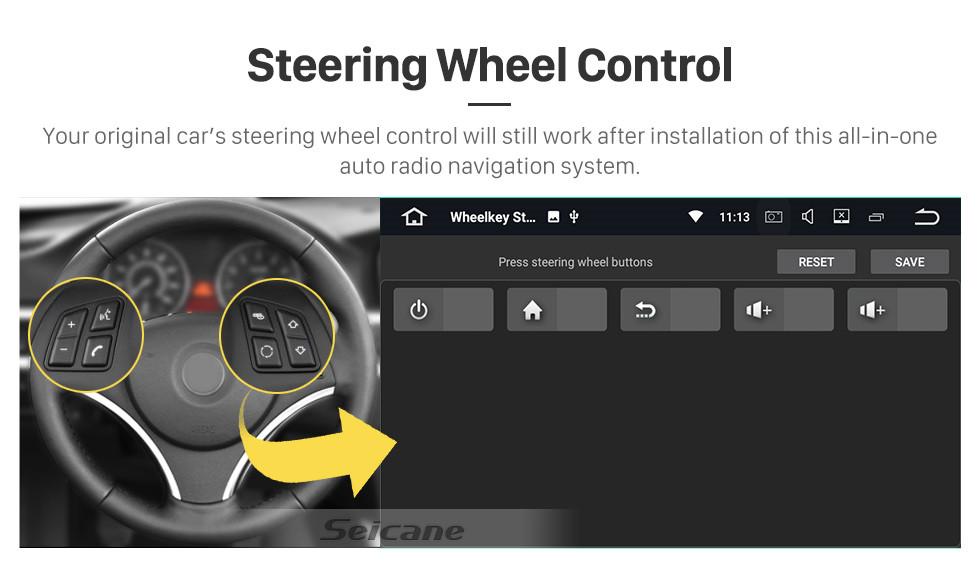 Seicane HD сенсорный экран Android 10.0 для 2018 года JAC Shuailing T6 / T8 Радио 9-дюймовый GPS-навигатор Поддержка Bluetooth Carplay Резервная камера