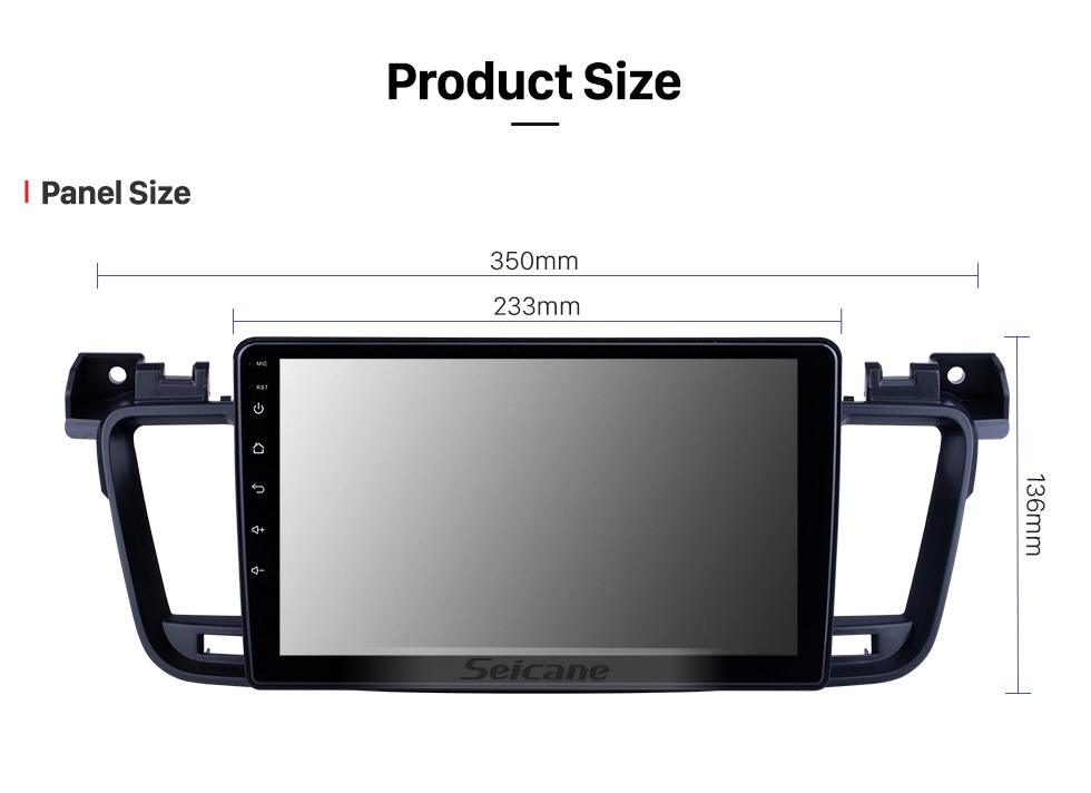 Seicane Android 10.0 HD Touchscreen 9 inch for 2011 2012 2013-2017 Peugeot 508 Radio GPS Navigation System with Bluetooth support Carplay TPMS