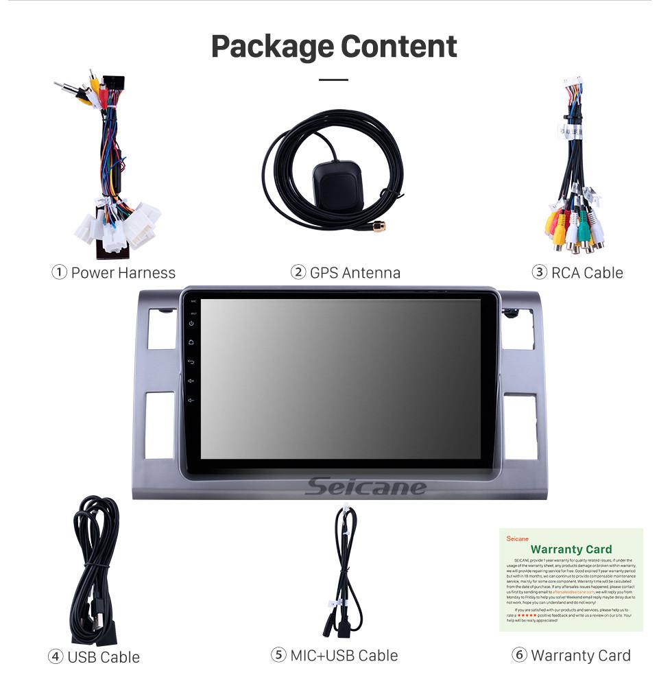 Seicane 10,1 дюйма для 2006 Toyota Previa / Estima / Tarago Radio Android 10.0 GPS навигационная система Bluetooth HD с сенсорным экраном Поддержка Carplay OBD2