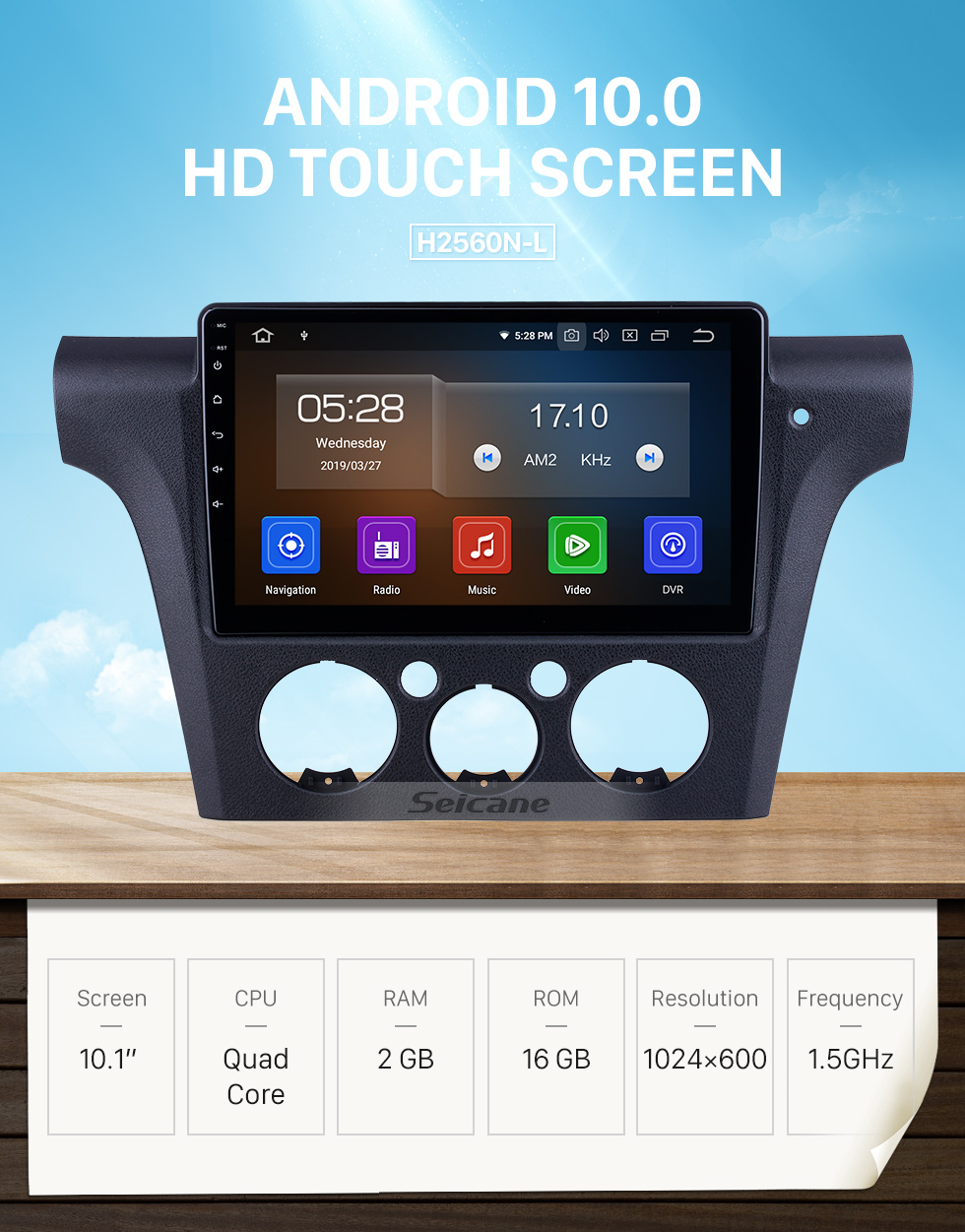 Seicane HD Touchscreen 10.1 inch for 2001-2004 2005 Mitsubishi Airtrek/Outlander Radio Android 10.0 GPS Navigation System Bluetooth Carplay support DSP