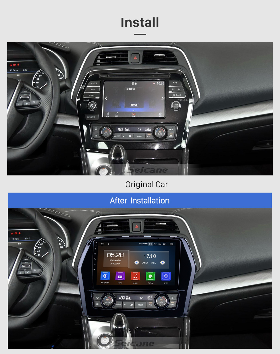 Seicane Android 10.0 For 2016 Nissan Teana/Maxima Radio 10.1 inch GPS Navigation System Bluetooth HD Touchscreen Carplay support DSP