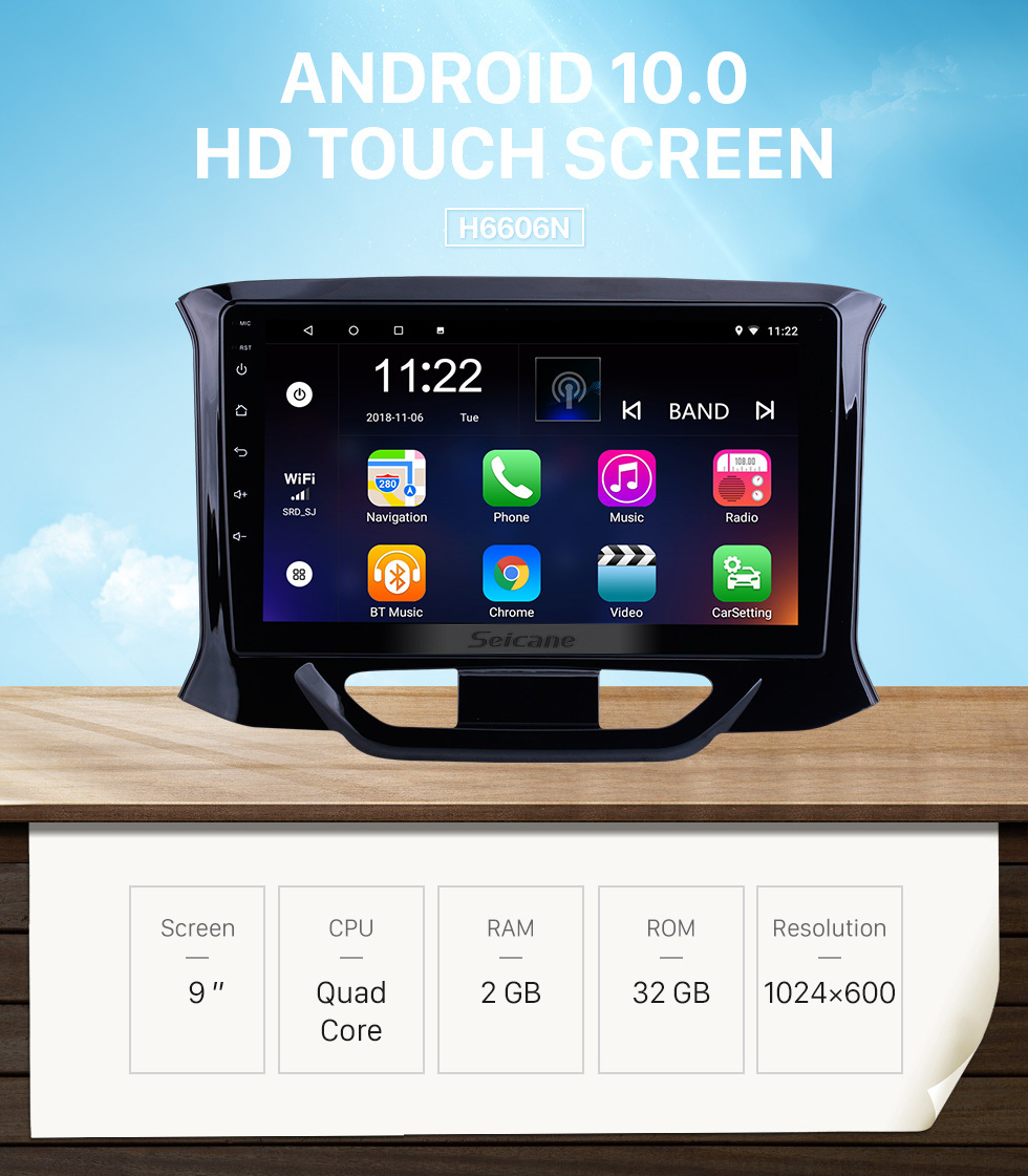 Seicane OEM 9 inch Android 10.0 for 2015 2016-2019 Lada Xray Radio with Bluetooth HD Touchscreen GPS Navigation System support Carplay DAB+