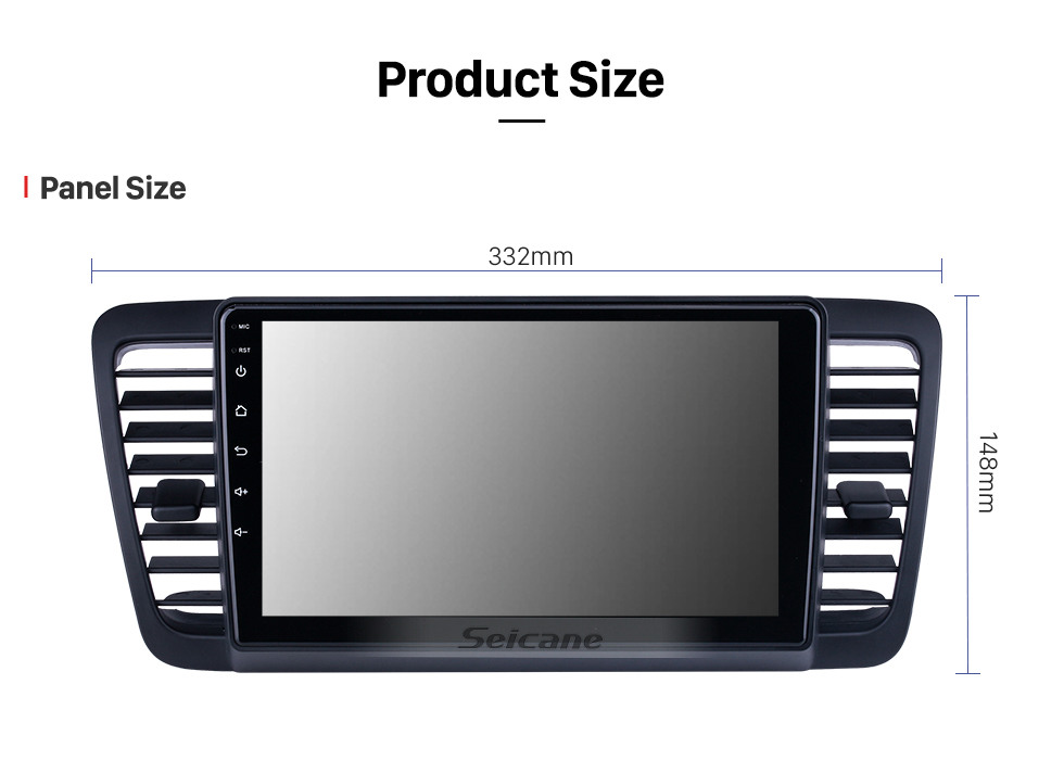 Seicane HD Touchscreen 9 inch Android 10.0 for 2004 2005 2006-2009 Subaru Legacy Radio GPS Navigation System with Bluetooth support Carplay DVR