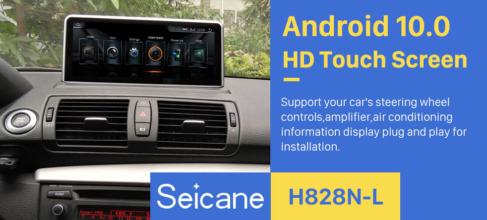 Seicane Android 10.0 For BMW E87(2006-2012) CCC/CIC Radio 10.25 inch HD Touchscreen GPS Navigation System with Bluetooth support Carplay SWC