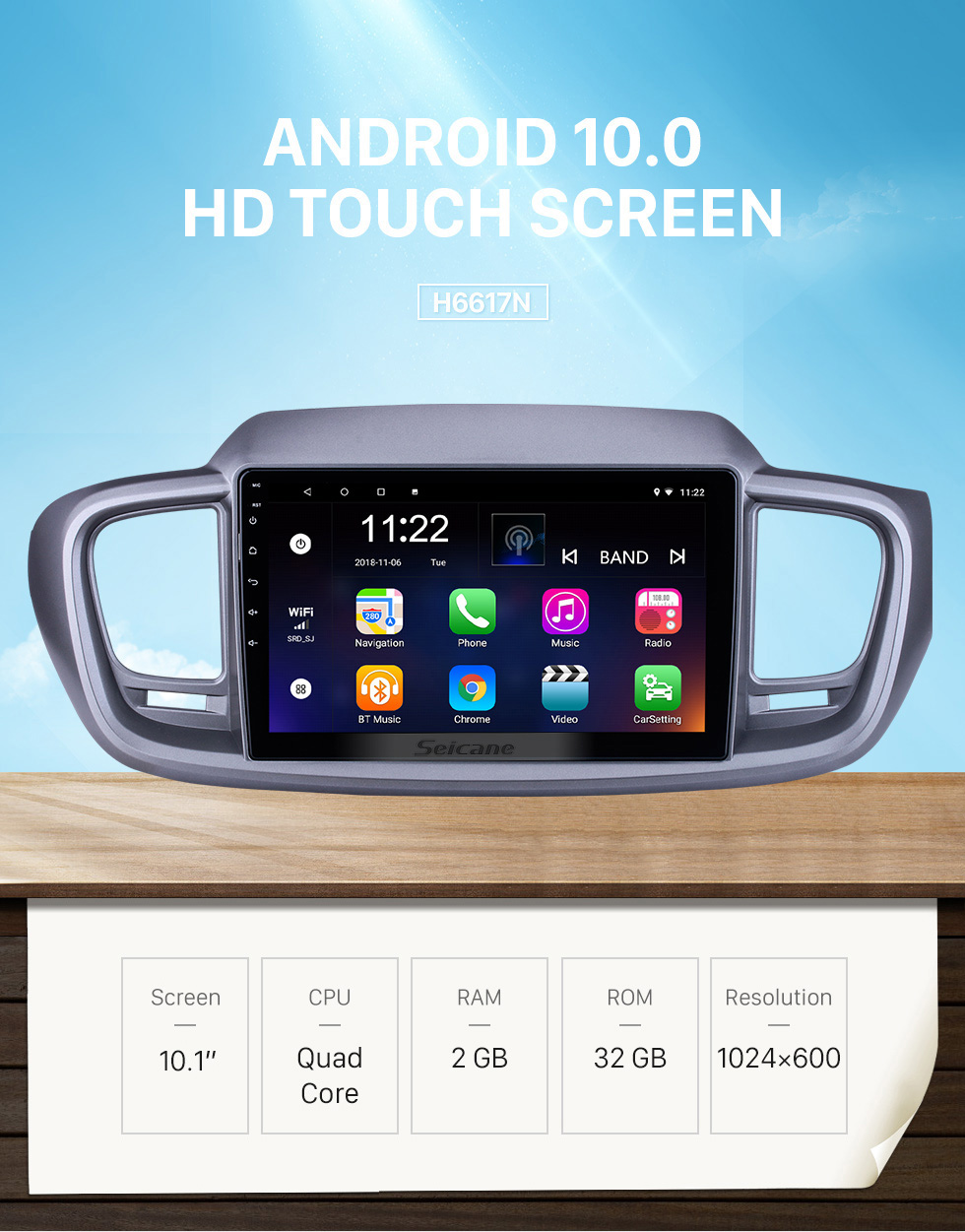 Seicane HD Touchscreen 10.1 inch Android 10.0 for 2015 Kia Sorento RHD Radio GPS Navigation System with Bluetooth support Carplay DVR