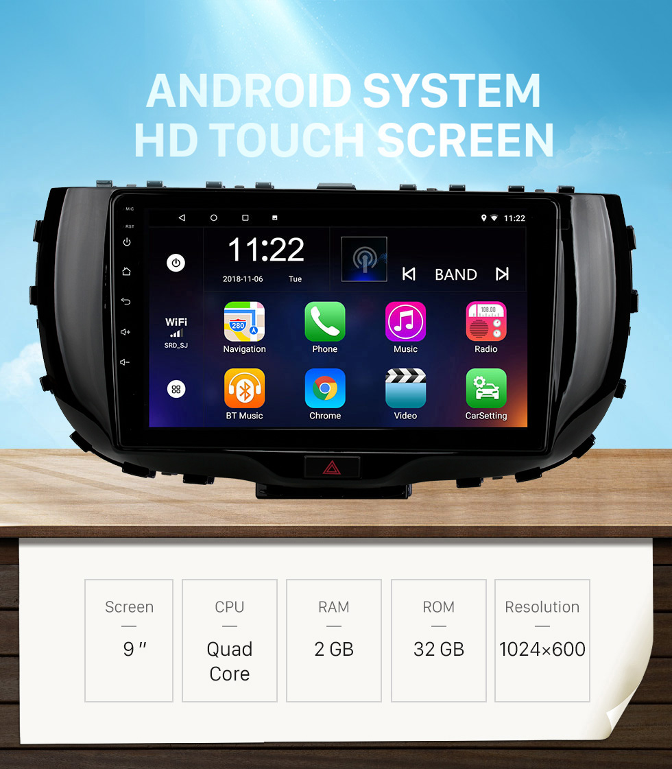 Seicane OEM 9 inch Android 10.0 for 2019 Kia Soul Radio with Bluetooth HD Touchscreen GPS Navigation System support Carplay