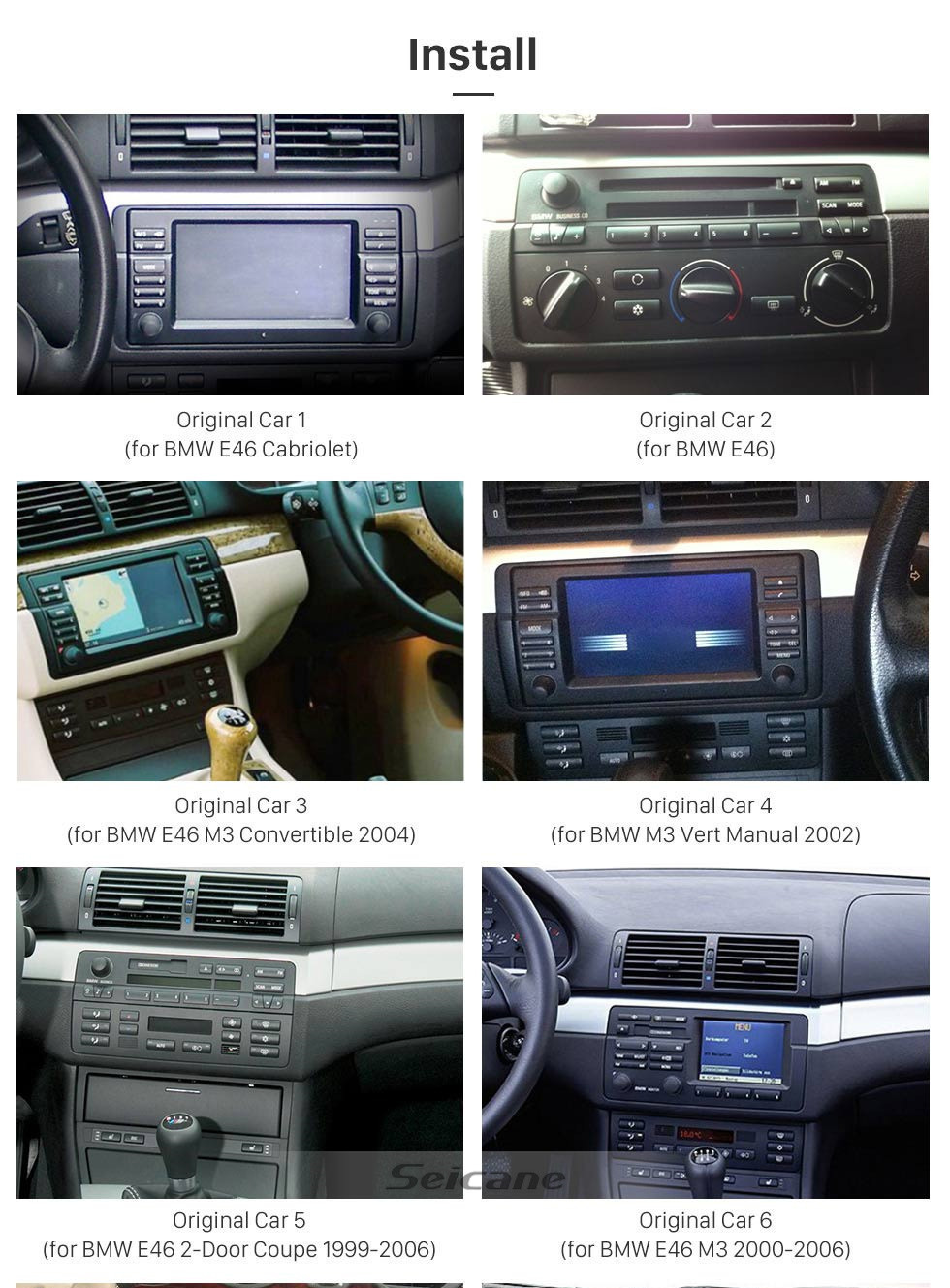Seicane 7 inch Android 10.0 GPS Navigation Radio for 1999-2004 Rover 75 with HD Touchscreen Carplay Bluetooth WIFI USB support Rearview camera Digital TV