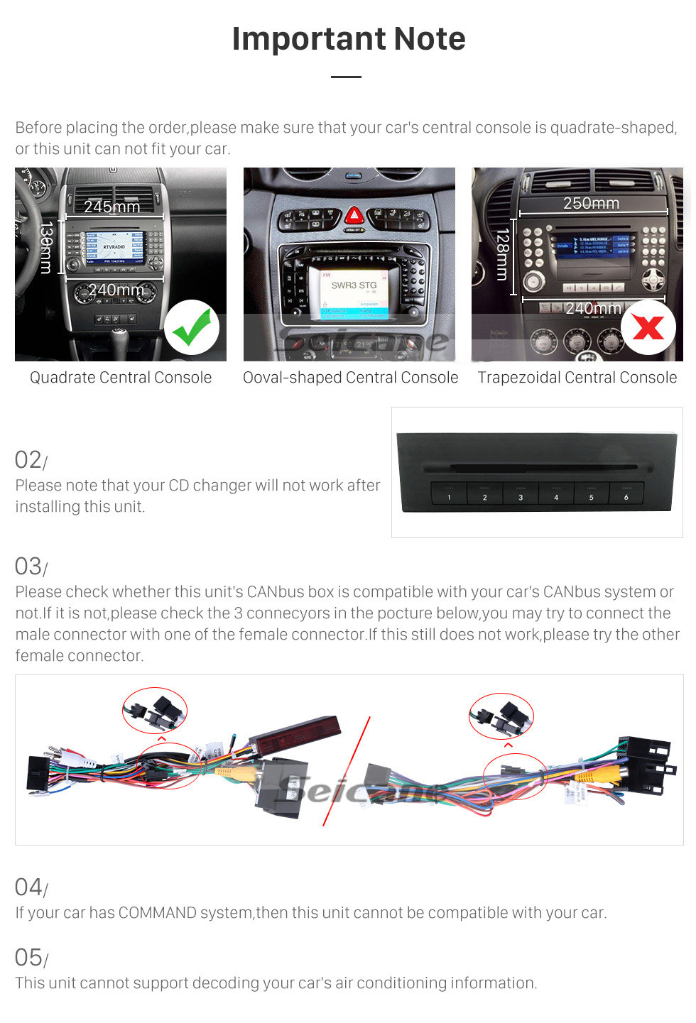 Seicane 7 Zoll Android 10.0 GPS Navigationsradio für 2006-2012 Mercedes Benz Sprinter 211 CDI 309 CDI 311 CDI 509 CDI mit Bluetooth HD Touchscreen Carplay USB AUX Unterstützung DVR 1080P Video