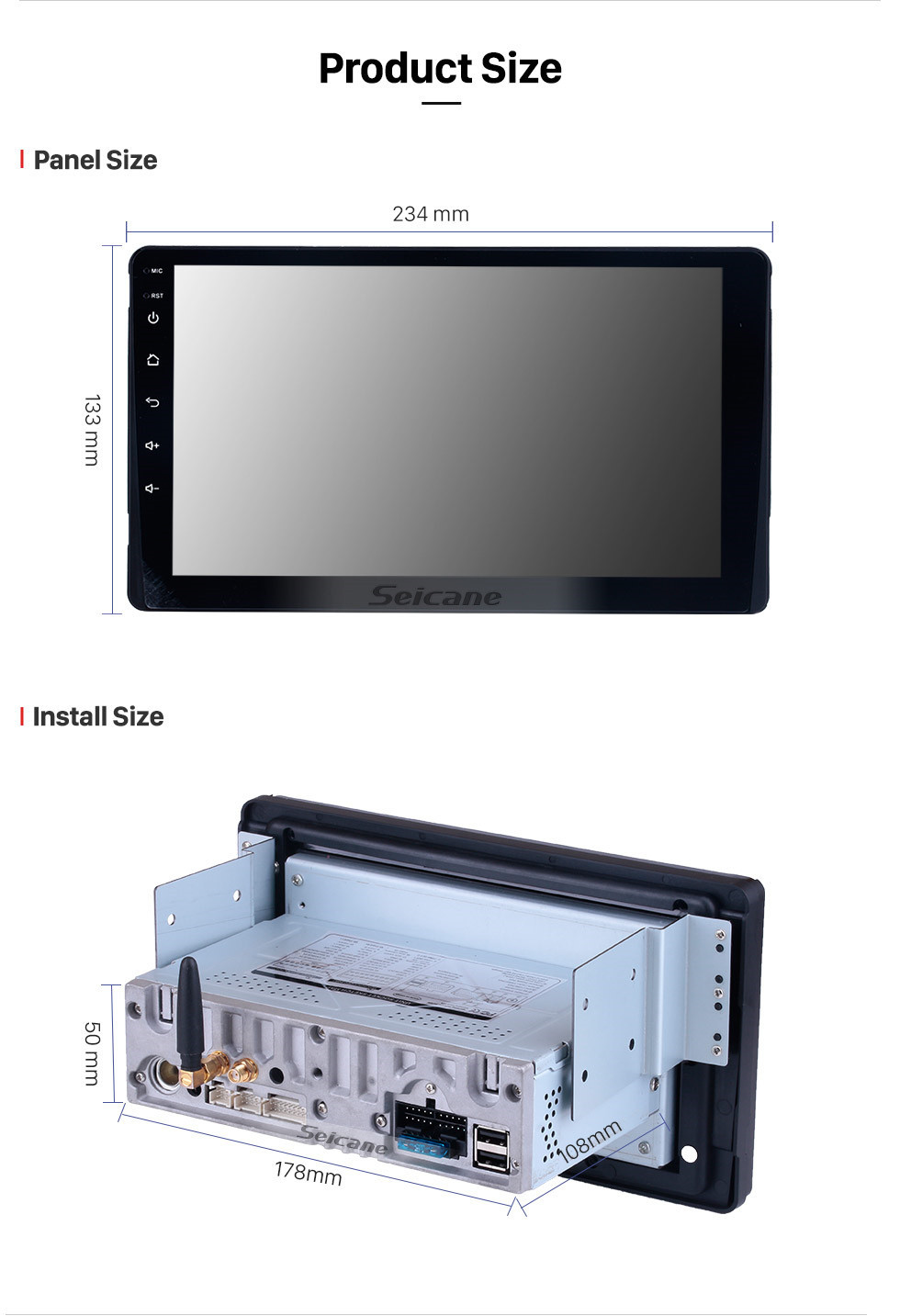 Seicane 2015-2018 Toyota Sienna XL30 Android 10.0 HD 1024*600 touchscreen Radio DVD Player GPS Navigation System with WiFi Bluetooth Music Mirror Link 1080P Video Steering Wheel Control