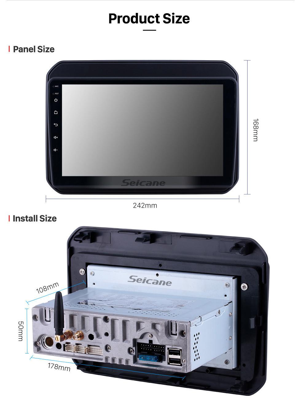 Seicane OEM 9 inch Android 10.0 Radio for 2016-2019 Suzuki Ignis Bluetooth Wifi HD Touchscreen GPS Navigation Carplay USB support OBD2 Digital TV TPMS DAB+