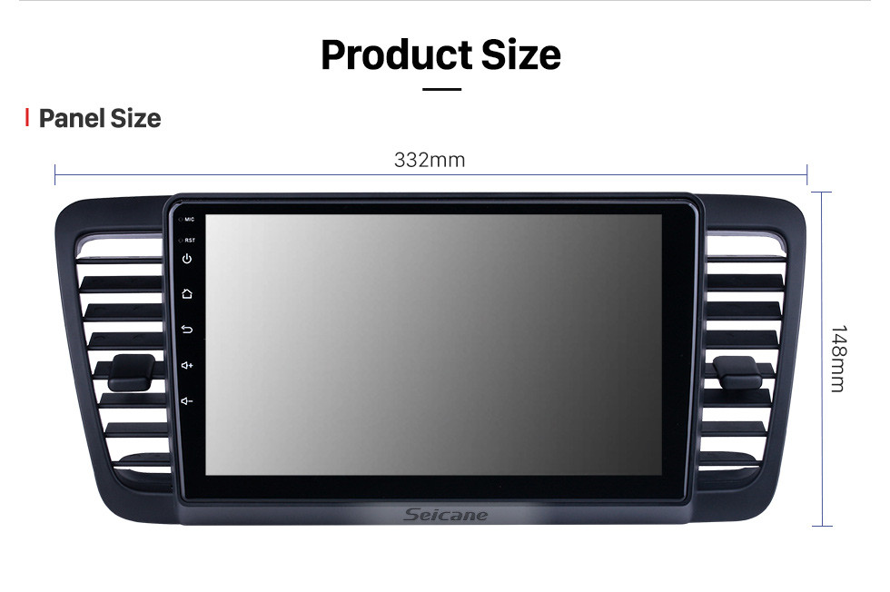 Seicane HD Touchscreen 9 inch for 2004 2005 2006-2009 Subaru Legacy Radio Android 10.0 GPS Navigation System Bluetooth Carplay support DSP TPMS