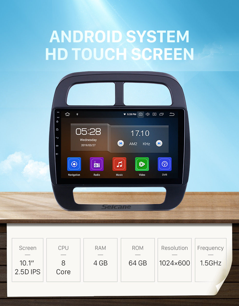 Seicane OEM 10.1 inch Android 10.0 for 2019 Renault City K-ZE Radio with Bluetooth HD Touchscreen GPS Navigation System Carplay support DSP TPMS