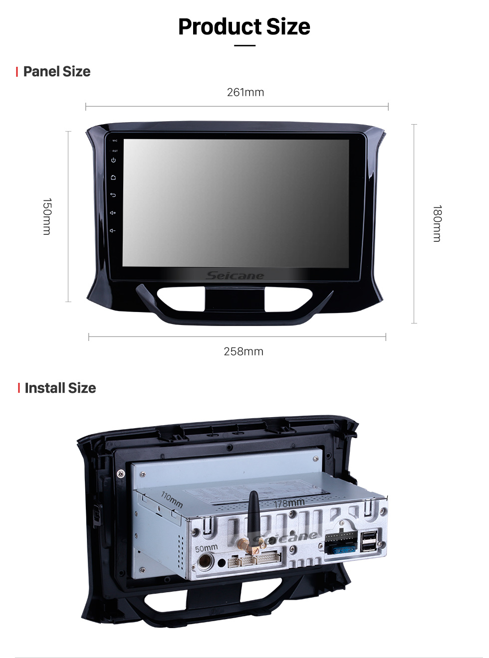 Seicane OEM Android 10.0 for 2015 2016-2019 Lada Xray Radio 9 inch HD Touchscreen with Bluetooth GPS Navigation System Carplay support DSP