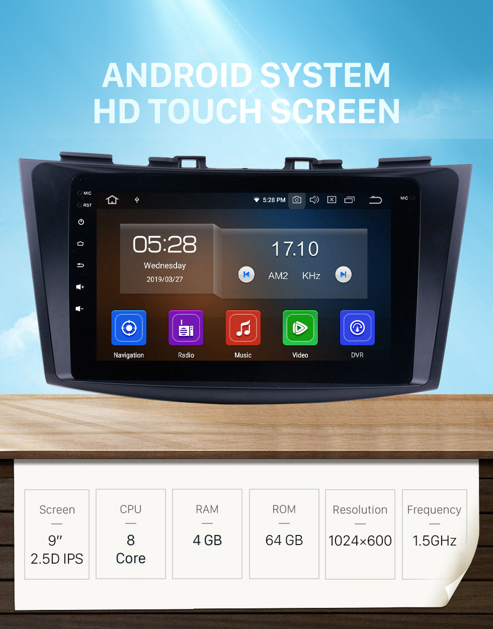 Seicane Android 10.0 Radio GPS Navigation system for 2011 2012 2013 Suzuki Swift Ertiga with Mirror link Touch Screen DVR Backup camera TV USB SD WIFI Steering Wheel control 8-core CPU HD 1080P Video OBD2 Bluetooth