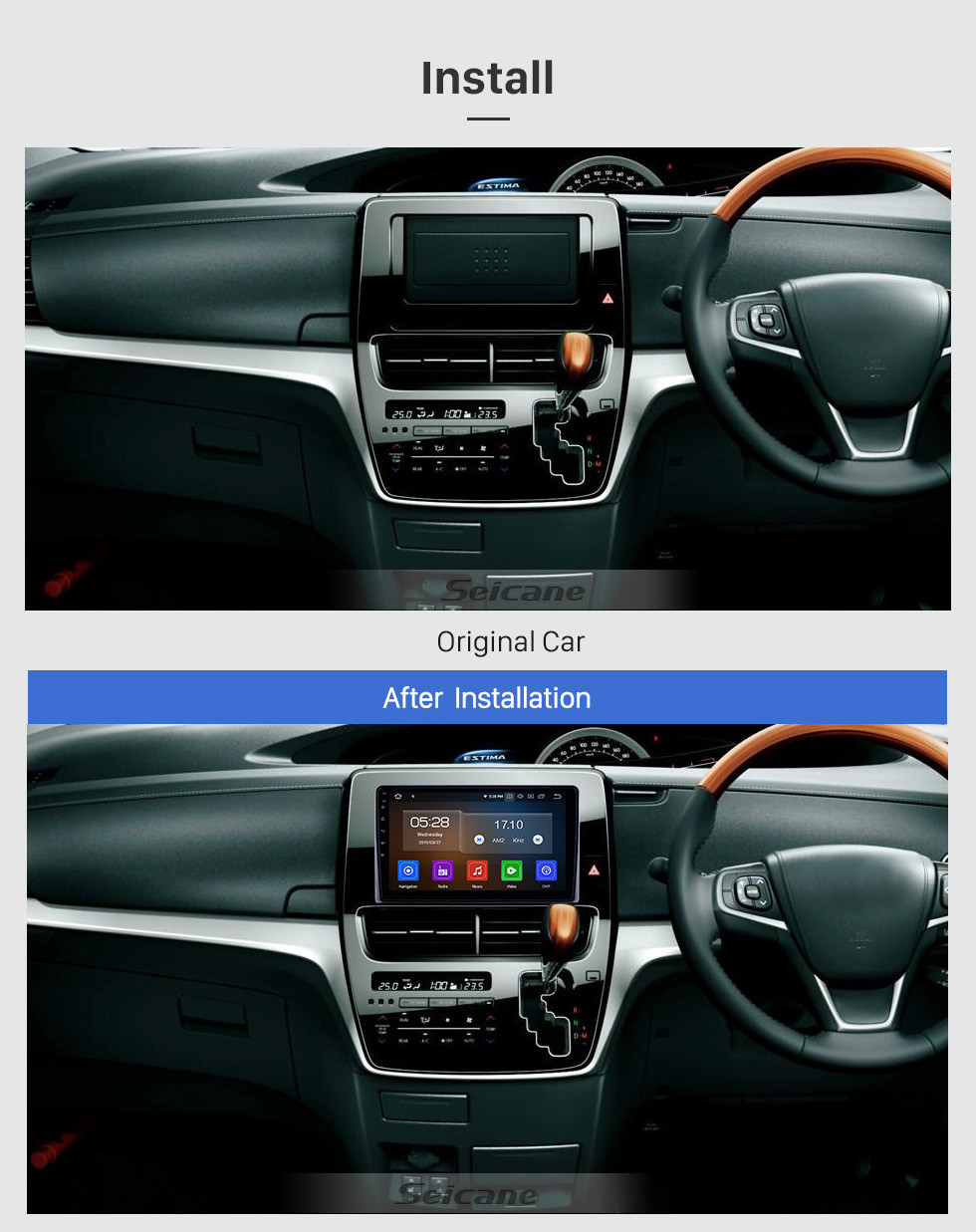 Seicane HD Touchscreen 10.1 inch for 2019 Toyota Previa Radio Android 10.0 GPS Navigation System Bluetooth Carplay support DSP DVR