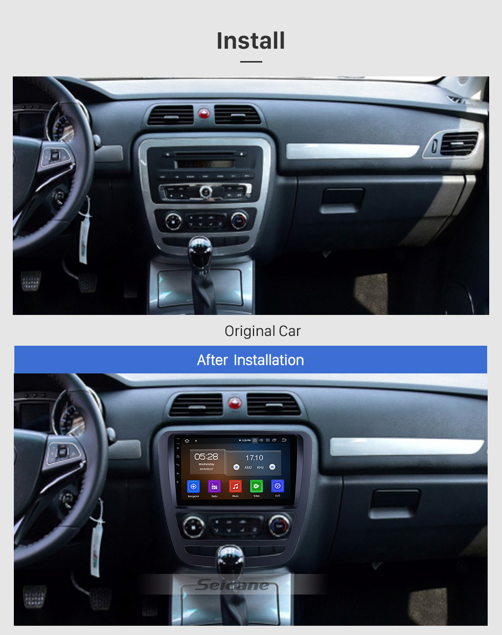 Seicane Android 10.0 Para 2018 JAC Shuailing T6 / T8 Rádio 9 polegadas Sistema de Navegação GPS Bluetooth AUX HD Touchscreen Carplay support DSP