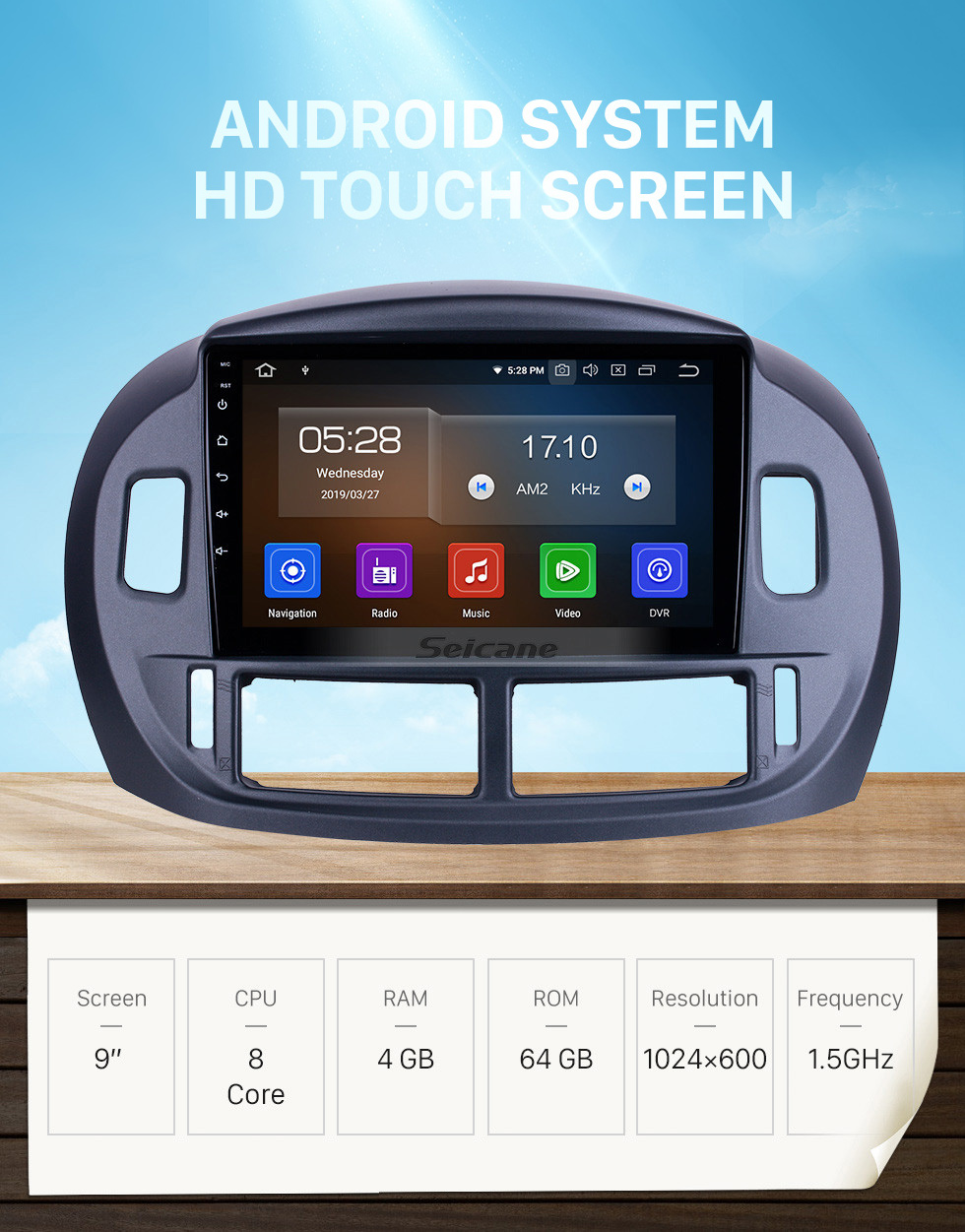 Seicane HD Touchscreen 9 inch for 2004 Toyota Previa Radio Android 10.0 GPS Navigation System Bluetooth WIFI Carplay support DSP OBD2