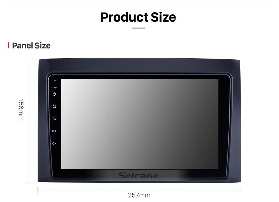 Seicane HD Touchscreen 9 inch for 2008 2009 2010 2011 Isuzu D-Max Radio Android 10.0 GPS Navigation System Bluetooth WIFI Carplay support DSP