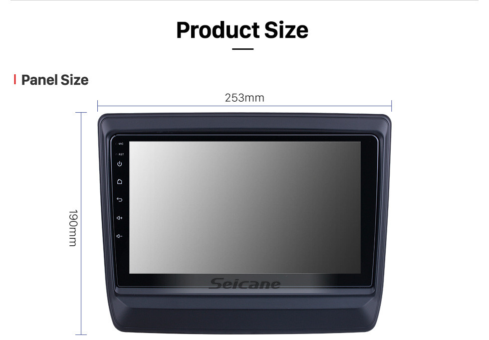 Seicane OEM 9 inch Android 10.0 for 2020 Isuzu D-Max Radio with Bluetooth HD Touchscreen GPS Navigation System Carplay support DSP TPMS