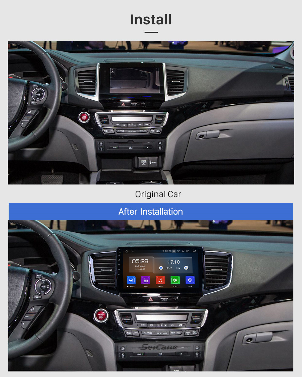 Seicane HD Touchscreen Android 10.0 for 2016 Honda Pilot Radio 10.1 inch GPS Navigation System Bluetooth Carplay support DAB+ Backup camera