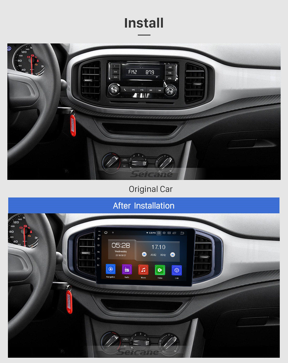 Seicane OEM 9 inch Android 10.0 for 2017 MG3 Radio Bluetooth AUX USB HD Touchscreen GPS Navigation System Carplay support DAB+