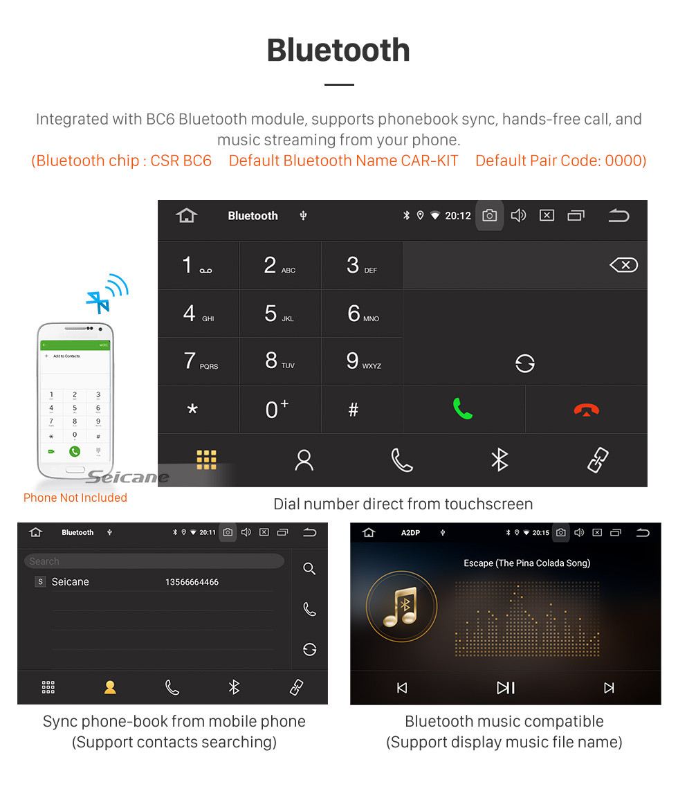 Seicane HD-Touchscreen für 2018 Seat Leon Radio Android 10.0 9-Zoll-GPS-Navigationssystem Bluetooth WIFI Carplay-Unterstützung DAB + Backup-Kamera