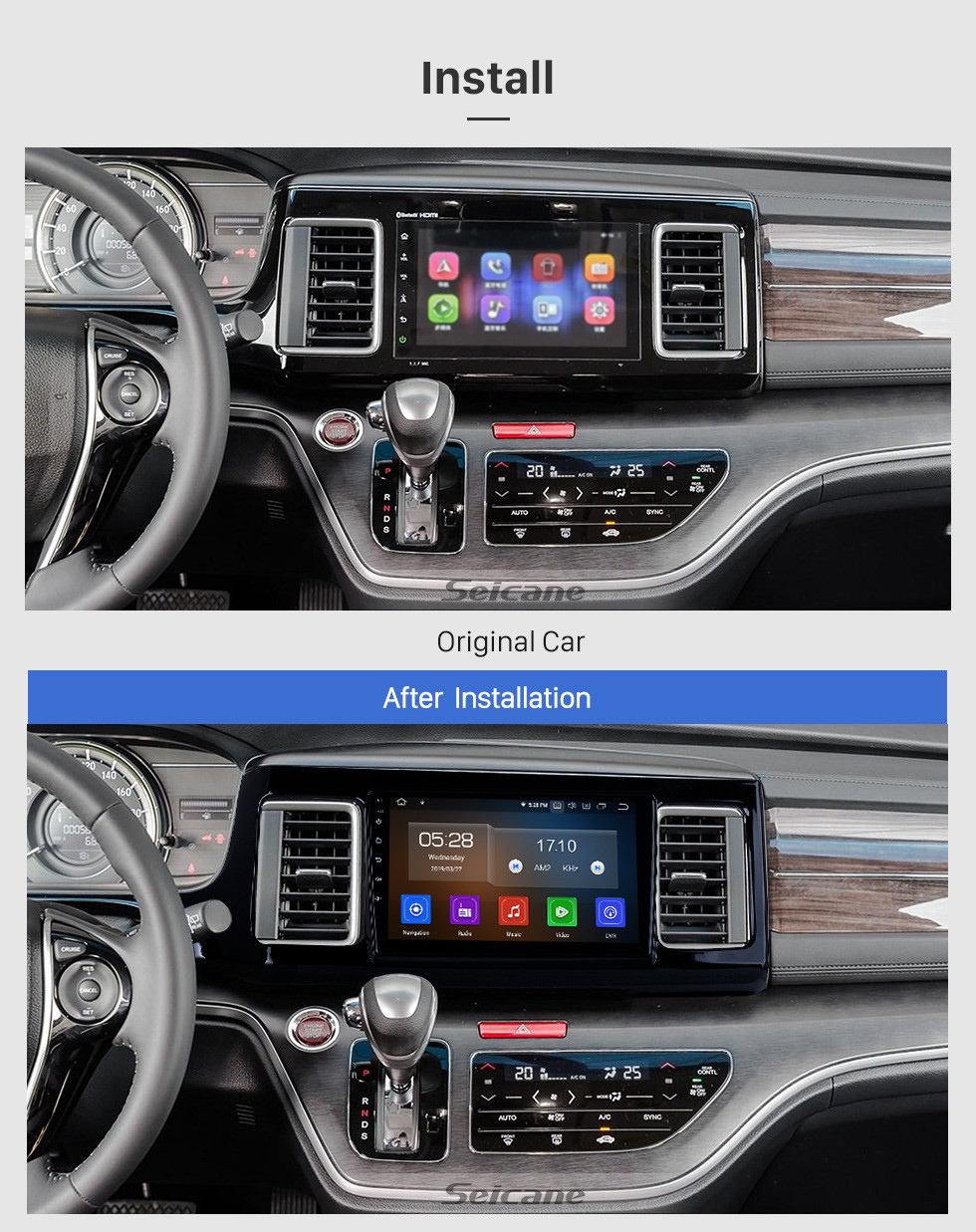 Seicane Android 10.0 For 2018 Honda Elysion Radio 9 inch GPS Navigation System Bluetooth HD Touchscreen Carplay support Rear camera