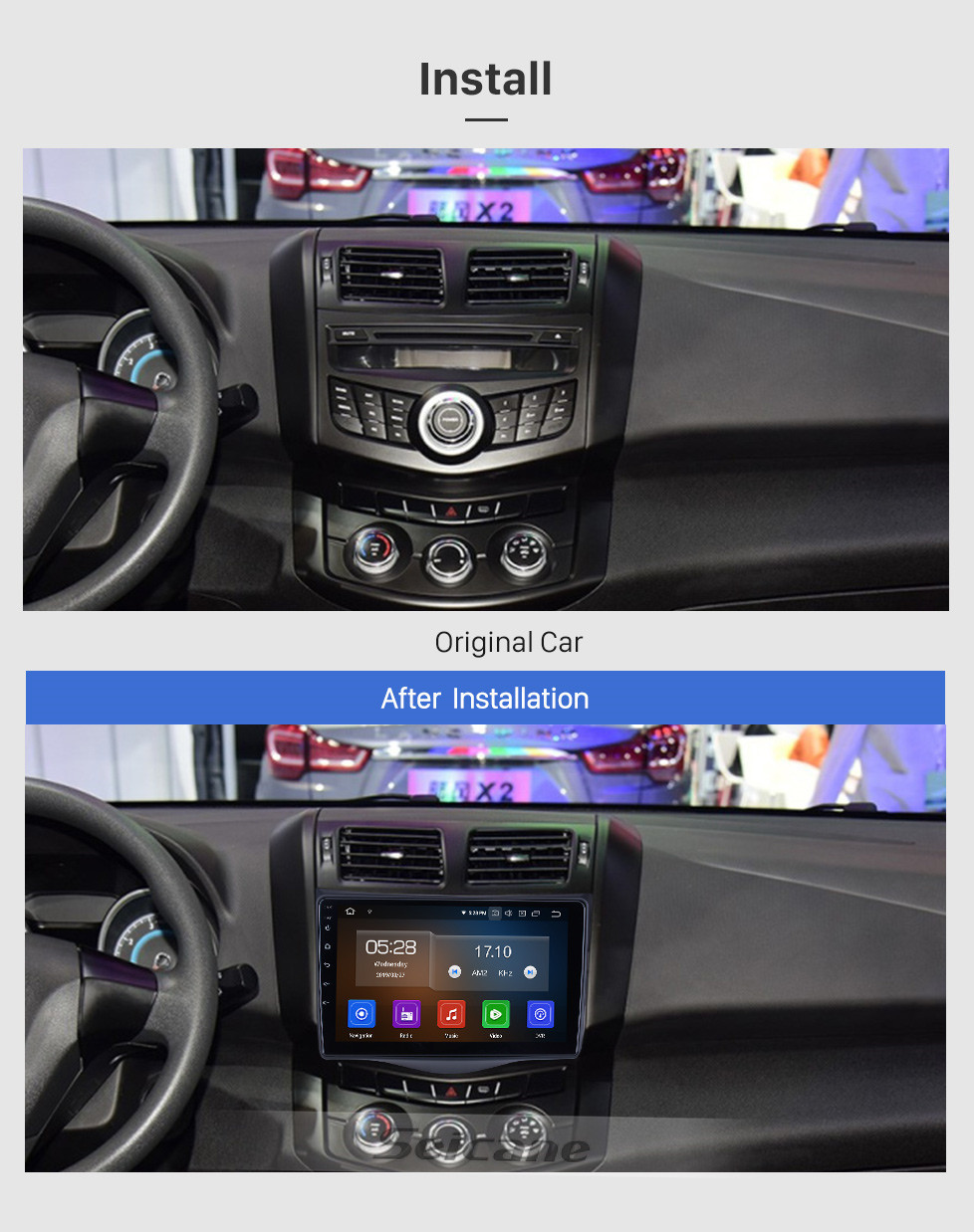 Seicane Android 10.0 For 2016 JMC Lufeng X5 Radio 9 inch GPS Navigation System Bluetooth AUX HD Touchscreen Carplay support SWC