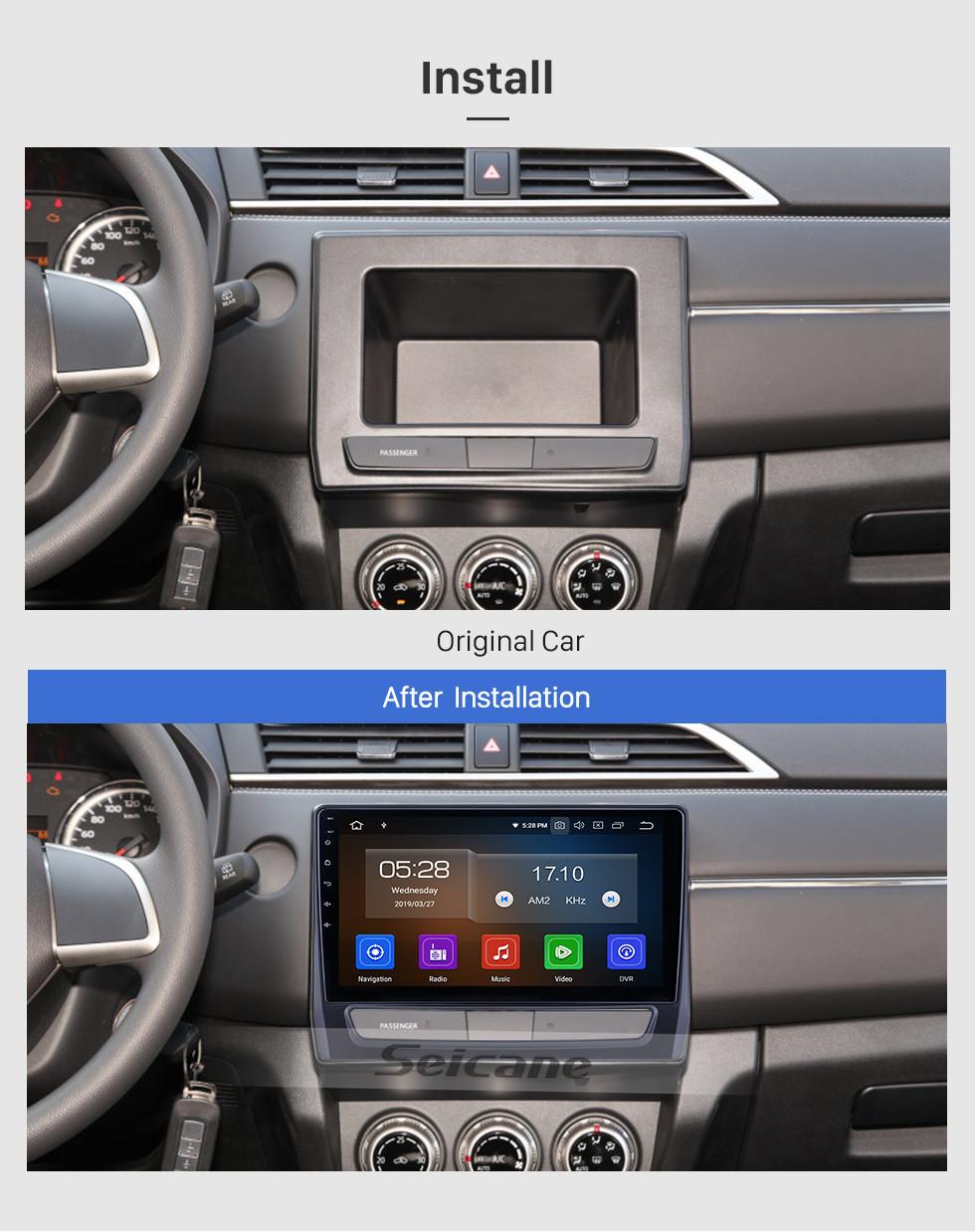 Seicane 10,1 дюймов для 2020 Mitsubishi ASX Radio Android 10.0 GPS навигационная система Bluetooth HD с сенсорным экраном Carplay поддержка OBD2