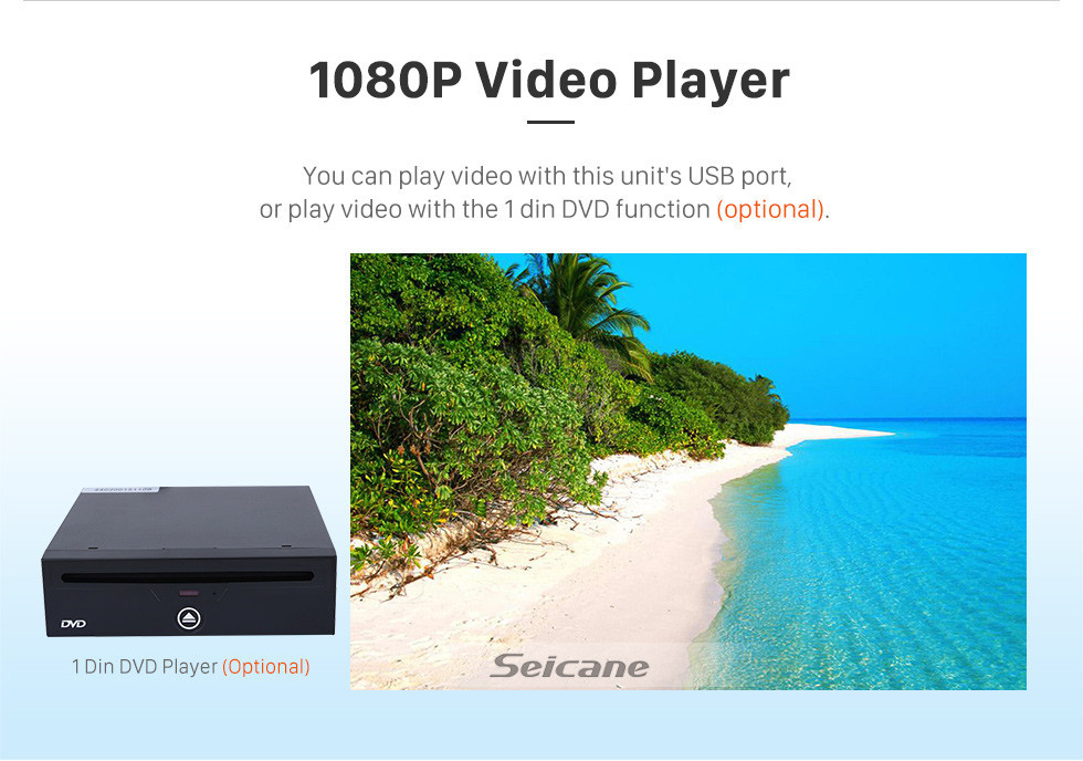 Seicane Android 10.0 for 2007 Kia Rio Radio 9 inch GPS Navigation System with HD Touchscreen Carplay Bluetooth support TPMS Rear camera