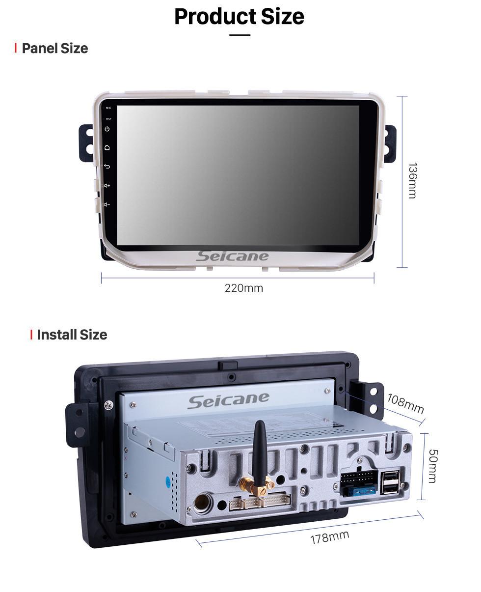 Seicane Pour 2017 Great Wall Haval H2 (étiquette rouge) Radio 9 pouces Android 10.0 HD écran tactile Bluetooth avec système de navigation GPS Support Carplay 1080P vidéo