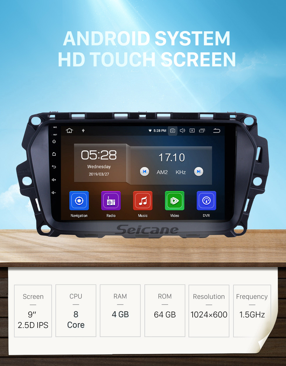 Seicane Android 10.0 for 2017 Great Wall Haval H2(Blue label) Radio 9 inch GPS Navigation System with HD Touchscreen Carplay Bluetooth support TPMS