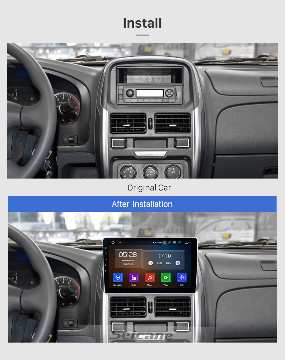 Seicane HD Touchscreen for 2015 2016 2017 Dongfeng Ruiqi Radio Android 10.0 10.1 inch GPS Navigation System Bluetooth WIFI Carplay support DAB+