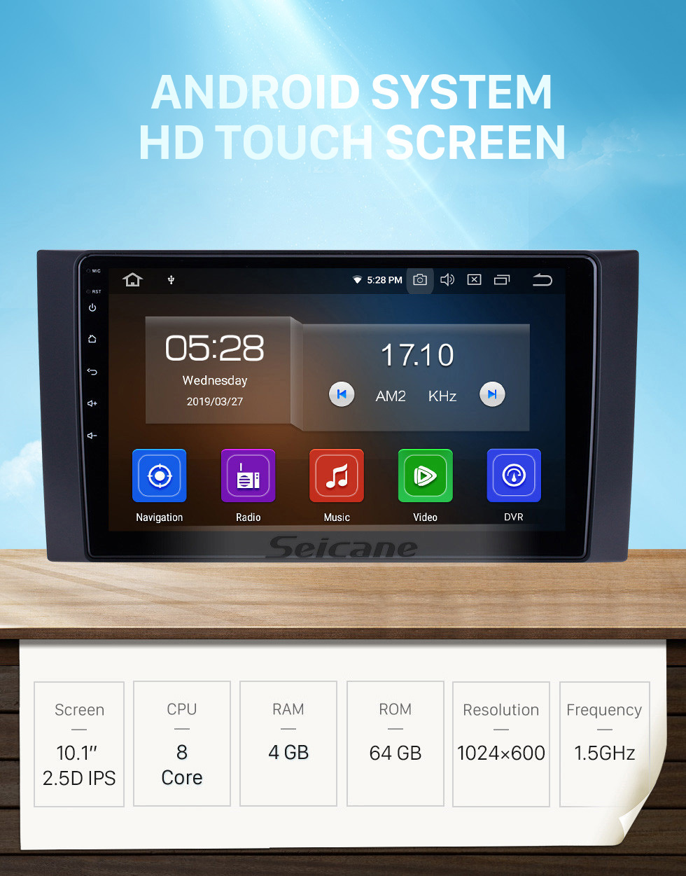 Seicane 10.1 inch For 2012 2013 2014-2017 Foton Tunland Radio Android 10.0 GPS Navigation System Bluetooth HD Touchscreen Carplay support OBD2