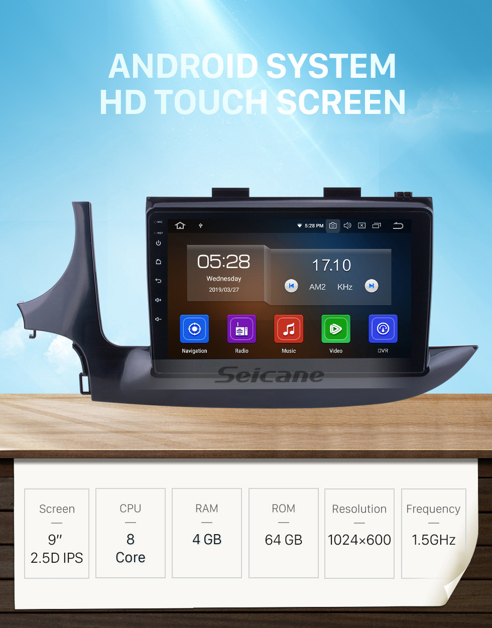 Seicane OEM 9 inch Android 10.0 for 2016 Buick Encore Radio Bluetooth WIFI HD Touchscreen GPS Navigation System Carplay support DVR