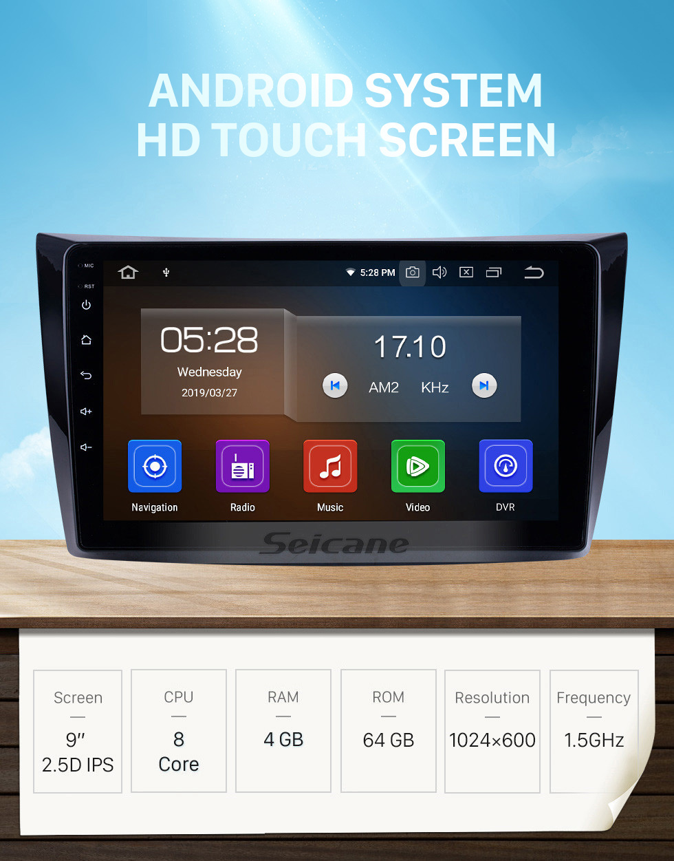 Seicane For 2011 Changan Alsvin V3 Radio 9 inch Android 10.0 HD Touchscreen Bluetooth with GPS Navigation System Carplay support 1080P Video