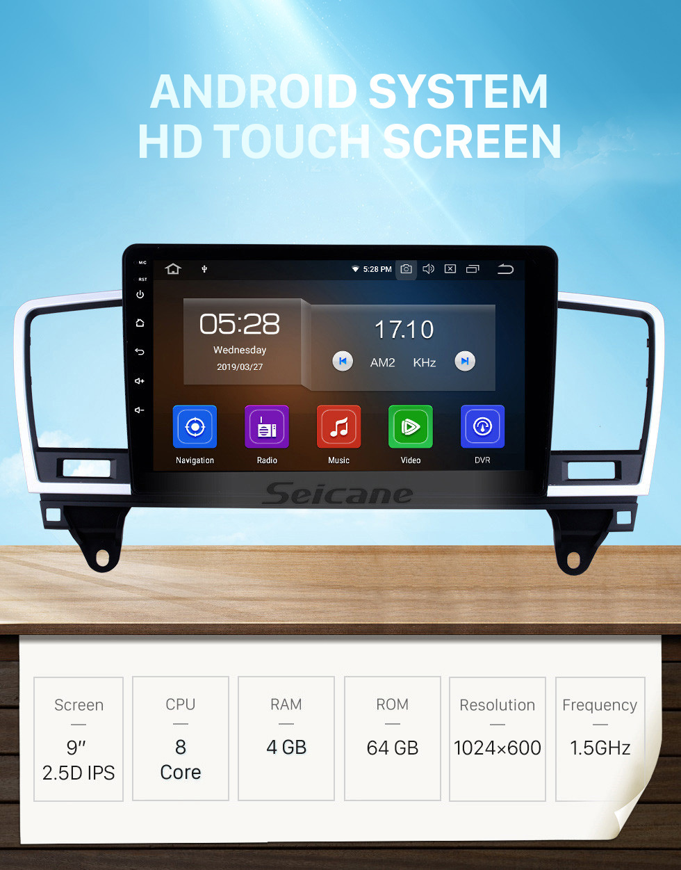 Seicane Android 10.0 For 2014 2015 Mercedes Benz ML Radio 9 inch GPS Navigation System Bluetooth HD Touchscreen USB Carplay support DVR SWC