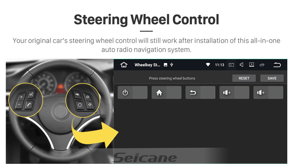 Seicane OEM 9 inch Android 10.0 for 2008 2009 2010-2014 Peugeot 207 Radio Bluetooth AUX HD Touchscreen GPS Navigation Carplay support TPMS