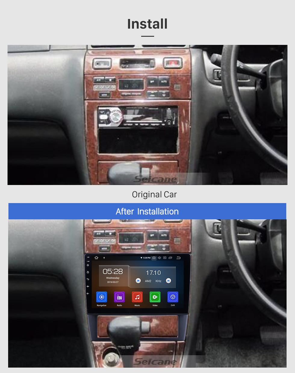 Seicane Android 10.0 for 1994 1995 1996 1997 Nissan Cefiro(A32)Radio 9 inch GPS Navigation with HD Touchscreen Carplay Bluetooth support Digital TV