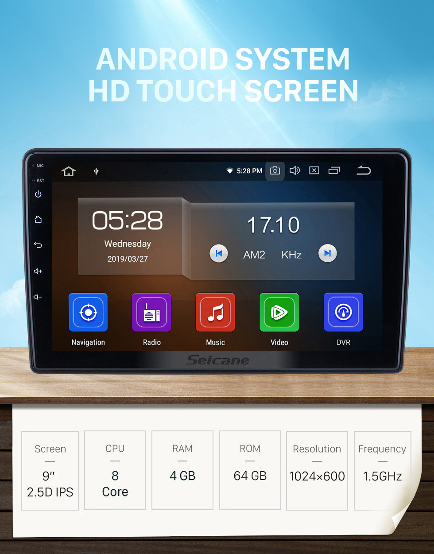 Seicane 9 inch For 2015 2016 2017 2018 Citroen Beringo Radio Android 10.0 GPS Navigation Bluetooth HD Touchscreen Carplay support Digital TV