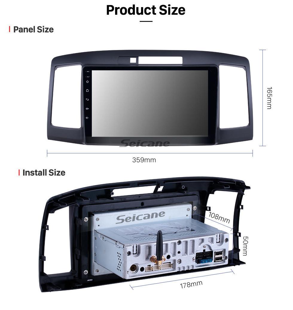 Seicane 9 inch 2001-2007 Toyota Allion 240 Android 10.0 GPS Navigation Radio WIFI Bluetooth HD Touchscreen Carplay support Mirror Link
