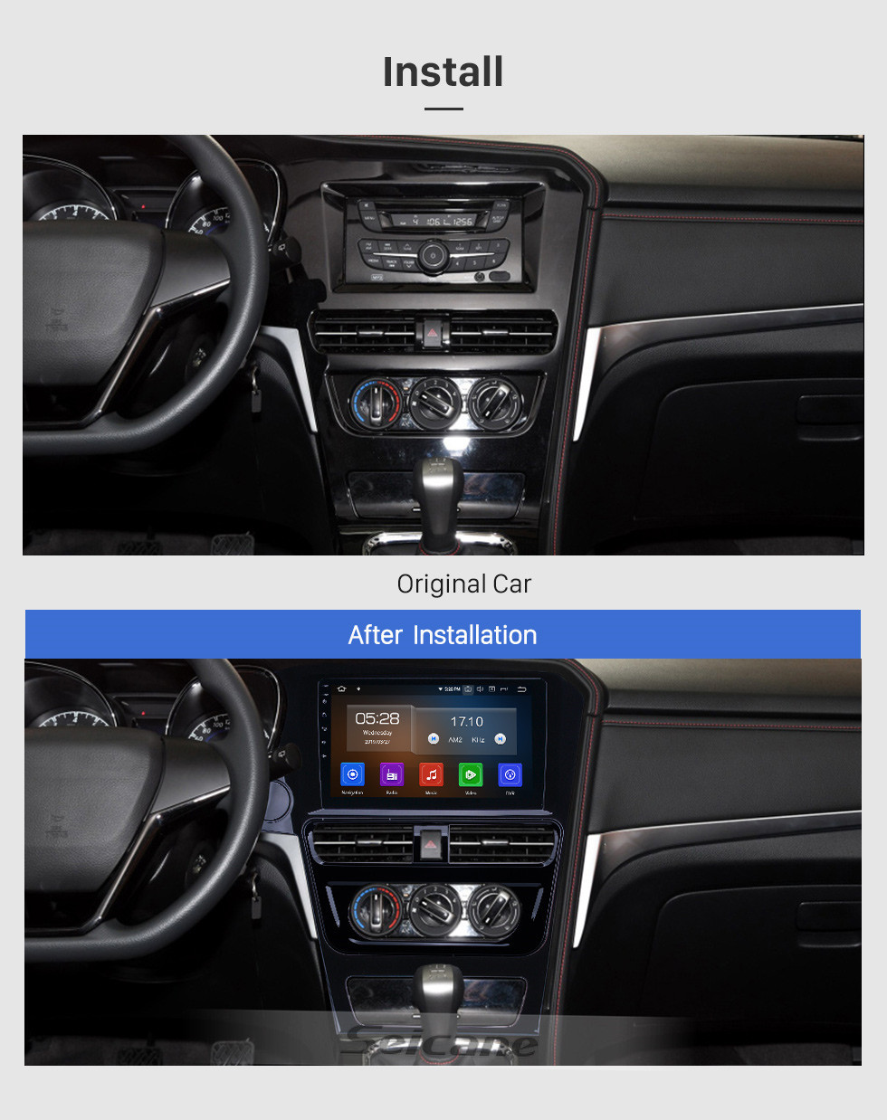 Seicane HD Touchscreen 2018-2019 Venucia T70 Low Version Android 10.0 10.1 inch GPS Navigation Radio Bluetooth AUX Carplay support Rear camera