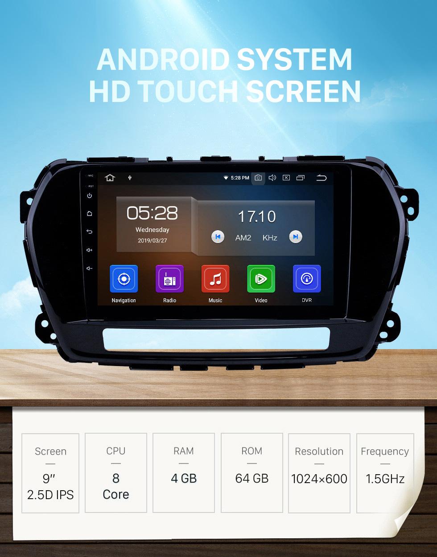 Seicane Pantalla táctil HD 2011-2015 Great Wall Wingle 5 Android 10.0 9 pulgadas Radio de navegación GPS Bluetooth AUX Carplay compatible Cámara trasera