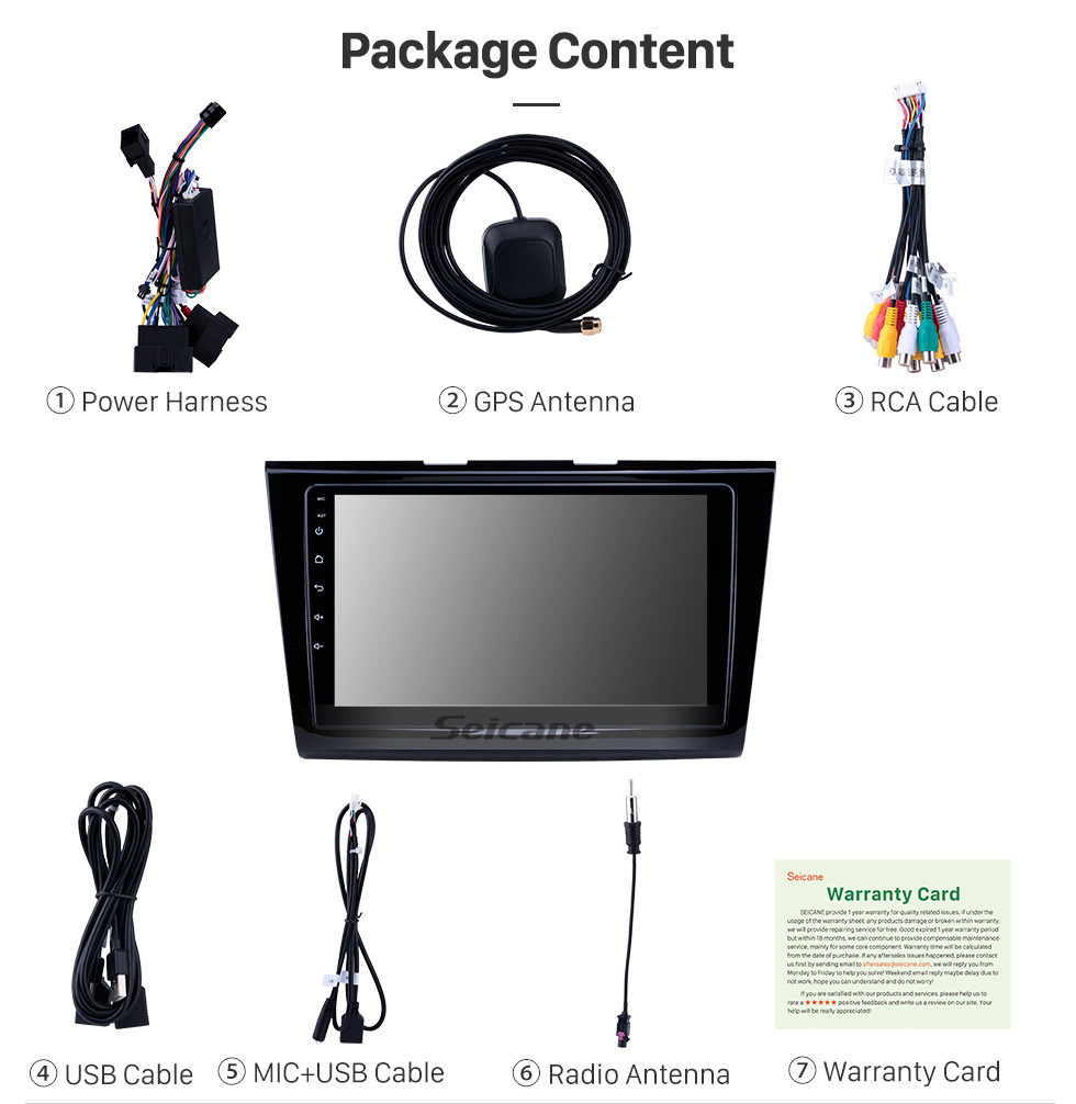 Seicane OEM 9 inch Android 10.0 for 2015-2018 Ford Taurus Bluetooth HD Touchscreen GPS Navigation Radio Carplay support TPMS Digital TV