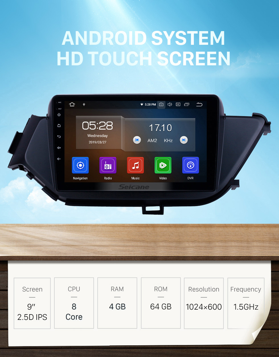 Seicane OEM 9 inch Android 10.0 for 2015-2018 Nissan Bluebird Bluetooth HD Touchscreen GPS Navigation Radio Carplay support 1080P Video TPMS