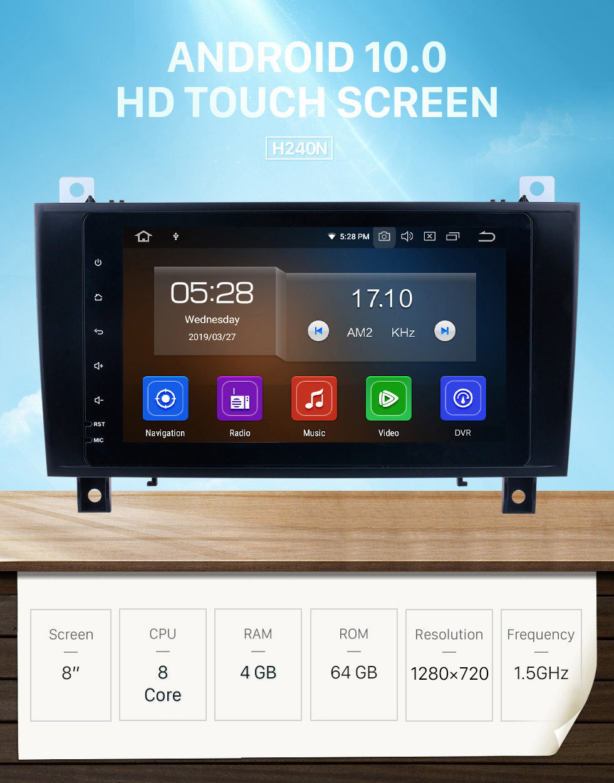 Seicane 8 inch Android 10.0 2 din head unit aftermarket autoradio stereo dvd player GPS sat nav system for 2000-2011 Mercedes SLK Class R171 SLK200 SLK280 SLK300 SLK350 SLK55