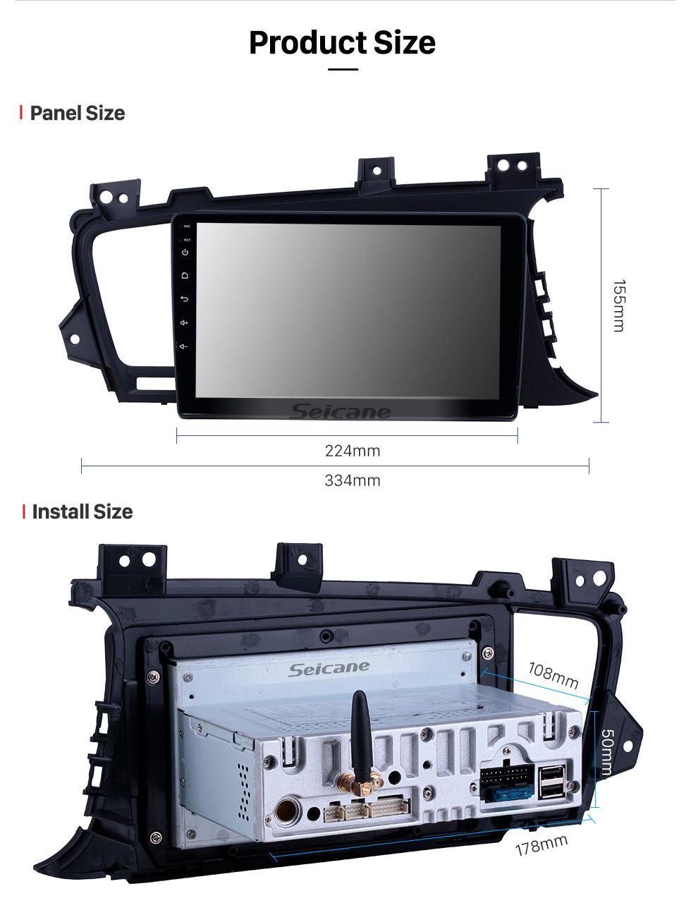 Seicane Android 10.0 9 inch GPS Navigation Radio for 2011-2014 Kia K5 RHD with HD Touchscreen Carplay Bluetooth support Digital TV