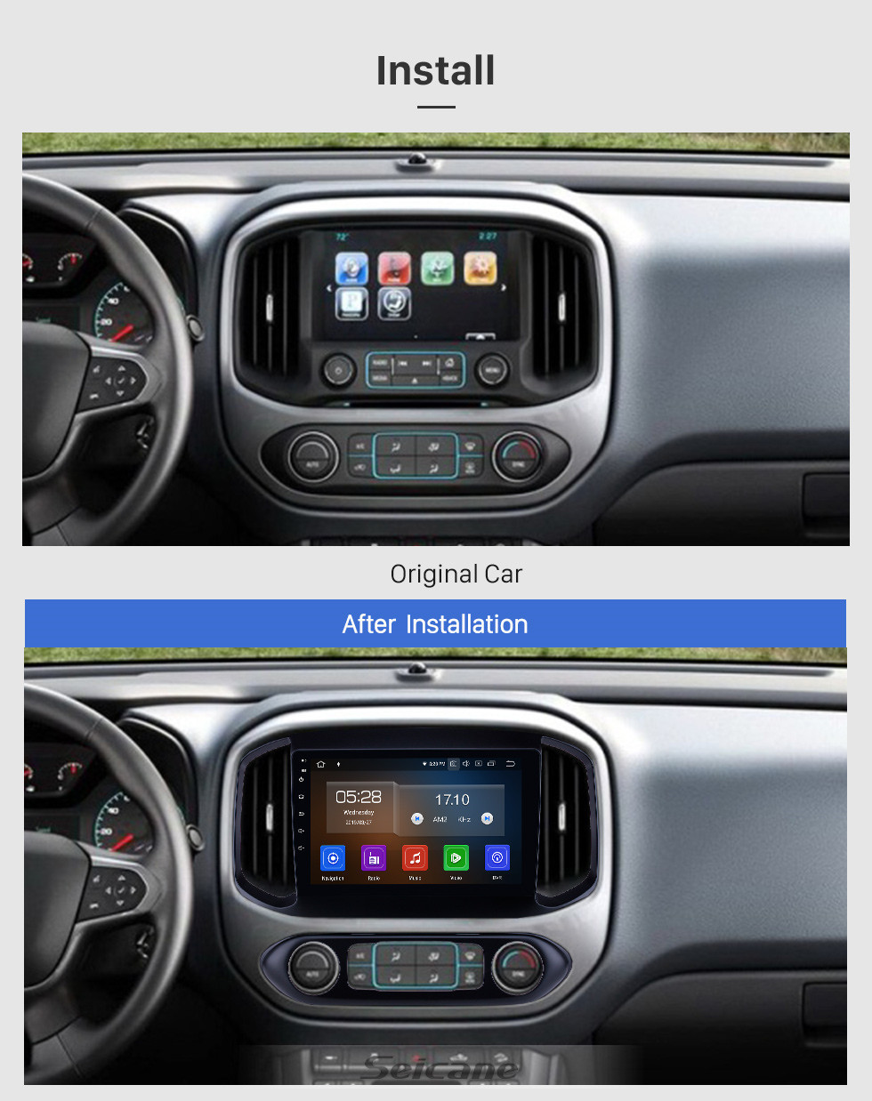 Seicane HD Touchscreen 2015-2017 chevy Chevrolet Colorado Android 10.0 9 inch GPS Navigation Radio Bluetooth WIFI Carplay support OBD2